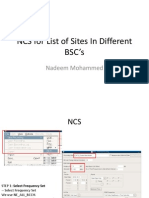 NCS for List of Sites In Different BSC's