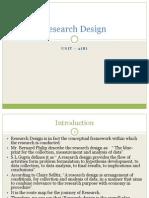Unit 2(b) - Research Design