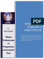 Strategia de Stabilire a Obiectivelor