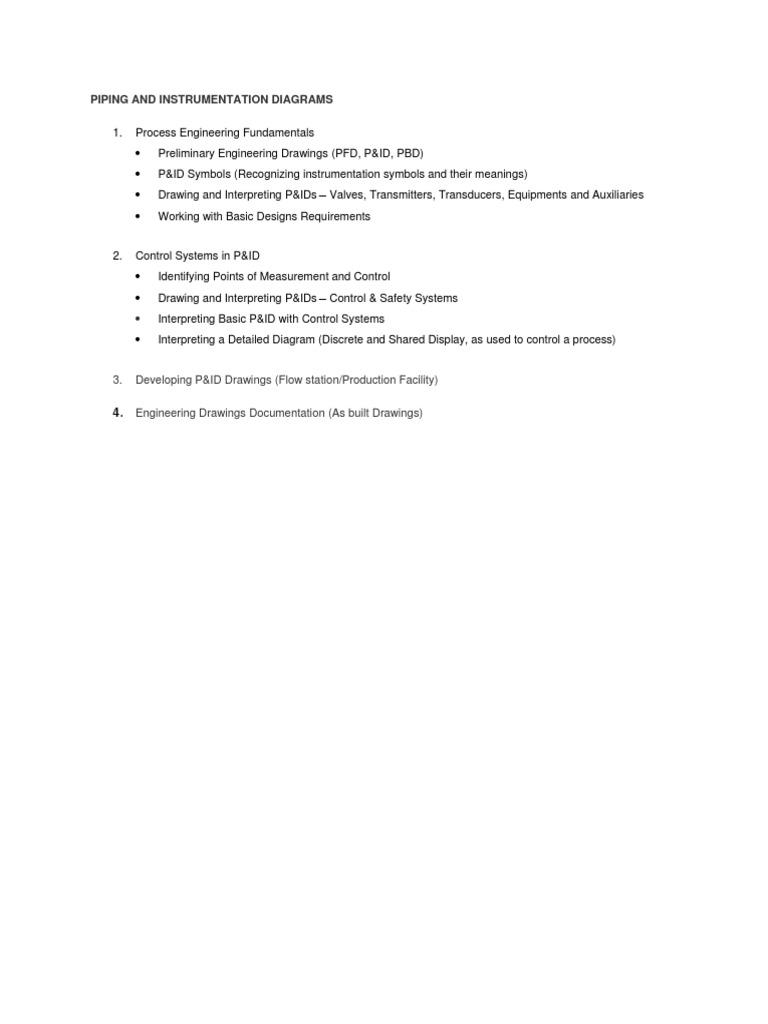 Piping And Instrumentation Diagrams Control Engineering Diagram Symbols 1537938068v1