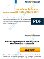 China and Global Polypropylene Industry 2013 Market Size, Share, Growth & Forecast
