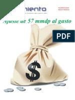 Ajuste de 59 mil 650 millones de pesos al gasto público