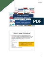 Social Computing - Intro