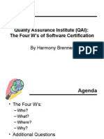 QAI Certification Comparisons