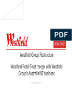 Westfield Restructure Document to the ASX