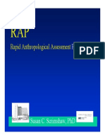 2010 Rapid Anthropological Assessment Procedure