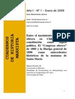 Cuaderno de Historia. Serie Movimiento Obrero. Word