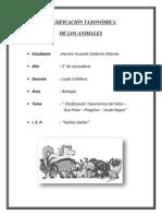 Clasificación Taxonómica de Animales