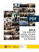 2012 Un año de legislatura