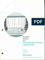 Sylvania Bright Ideas for Architectural Lighting (Residential) Brochure 1962