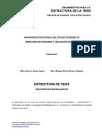 3.2. Oficial Estructura de Tesis (190911)