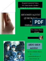 Abdomen Agudo Qx y Embarazo