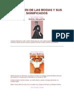 EL ORIGEN DE LAS MODAS Y SUS SIGNIFICADOS.25 (descripción de estilos)