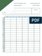formulario horario vazio