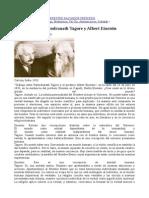 Rabindranath Tagore y AlbertEinstein