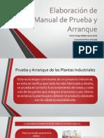 Elaboración de Manual de Prueba y Arranque