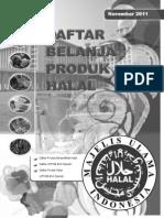 Daftar Produk Halal