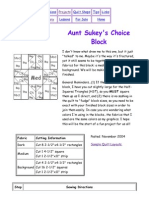 Aunt Sukey's Choice Block - 12in