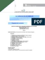 OFGC El Carnaval de Los Animales Ficha Guia