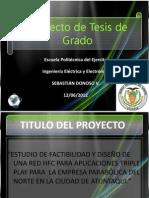 Estudio de factibilidad y diseño de una red HFC para aplicaciones triple play para la empresa Parabólica del Norte en la ciudad de Atuntaqui PPT
