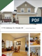 1175 Callaway Ct, Howell, MI   HIdden Creek Beauty