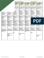WDW Operating Calendar June