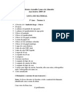 Lista de material 3º ano Sofia