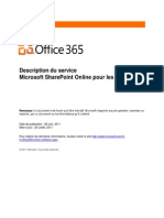 Microsoft SharePoint Online Standard Service Description Final FR MAJ