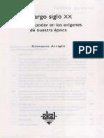 Arrighi - El Largo Siglo XX. Dinero y Poder en Los Orgenes de Nuestra Poca