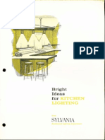 Sylvania Bright Ideas for Kitchen Lighting Brochure 1964