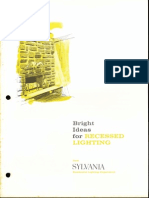 Sylvania Bright Ideas for Recessed Lighting Brochure 1964