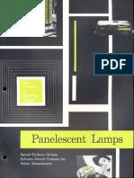 Sylvania Electroluminescent Panelescent Lamps Brochure 1961
