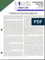 Sylvania Engineering Bulletin - Mercury Lamps Performance Data 1966