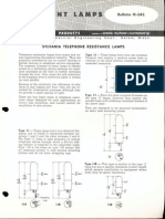 Sylvania Engineering Bulletin - Telephone Resistance Lamps