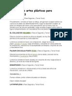Técnicas de artes plásticas para preescolar 3.doc