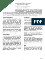 Medicine Sub Internship Sample Score Report