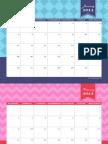 2014 Printable Calendar by Anders Ruff