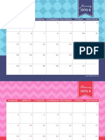 2014 Printable Calendar by Anders Ruff