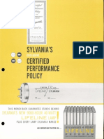 Sylvania Fluorescent Certified Performance Policy Brochure 1962