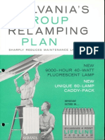 Sylvania Fluorescent Group Relamping Plan Brochure 1962