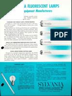Sylvania Fluorescent Lamps for Equipment Manufacturers Brochure 1961