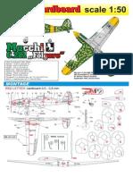 (Model Cardboard) - Macchi C 202 Folgore (1-50)