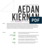 Aedan's CV New Employee