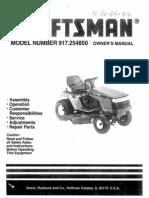 Craftsman Tractor 917.254850 Manual