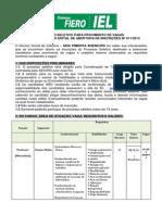 Processo Seletivo SESI Pimenta Bueno Edital 011-2013