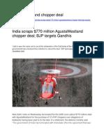 AgustaWestland Chopper Deal