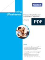 ADvertising Effectiveness - Understanding the Value of a Social Media Impression
