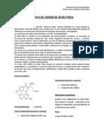 Control de Calidad de Ácido Fólico