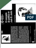 El Concepto de Pol Tica en Juan B. Justo 1