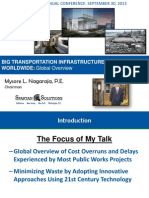 NagarajaM Big Transportation Infrastructure Projects Worldwide Global Overview